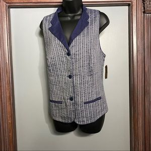 Coldwater Creek Women's Pinstripe Vest, NWT